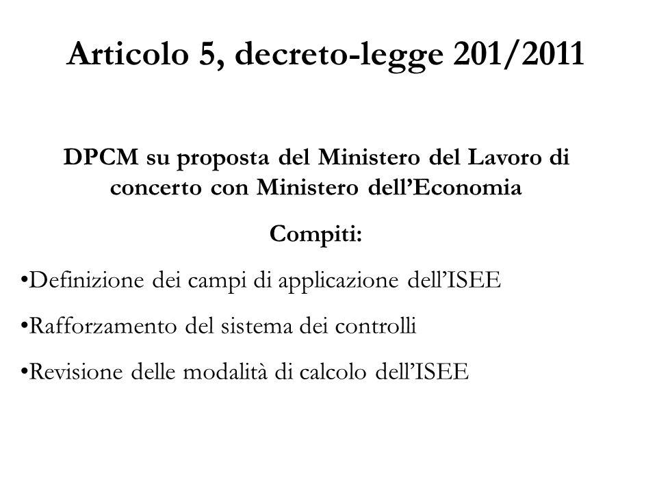 Articolo 5, decreto-legge 201/2011