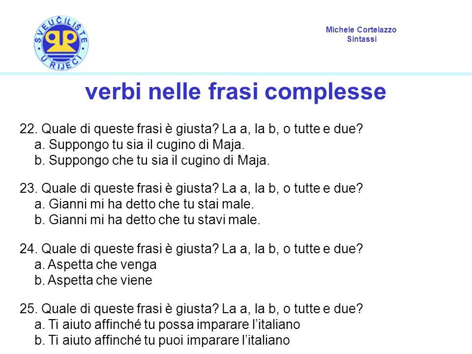 verbi nelle frasi complesse