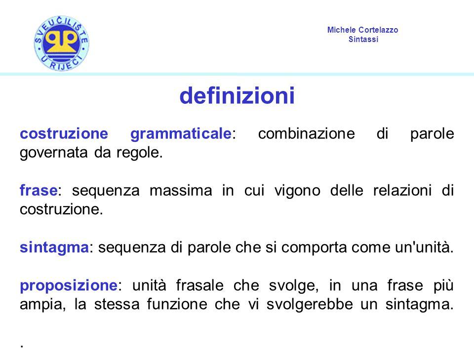 definizioni costruzione grammaticale: combinazione di parole governata da regole.