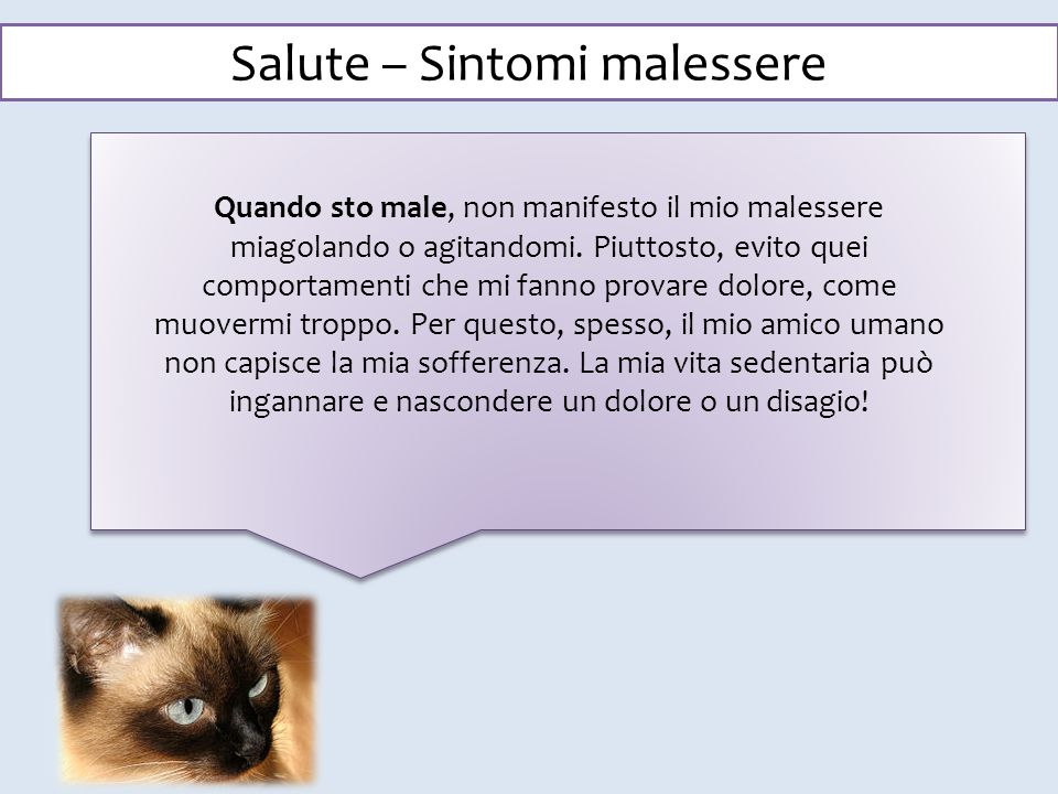 Salute – Sintomi malessere