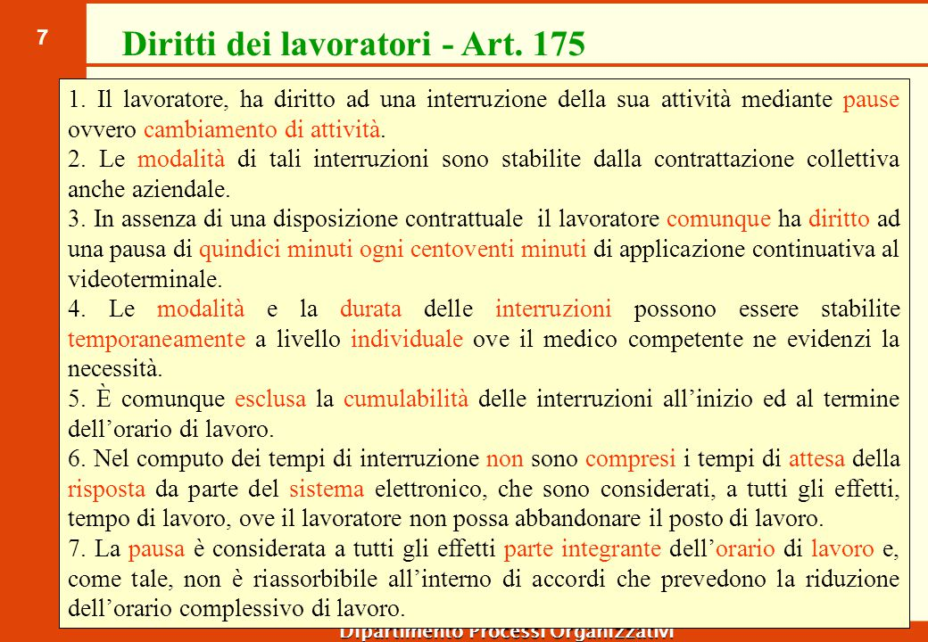Sorveglianza sanitaria - Art.176