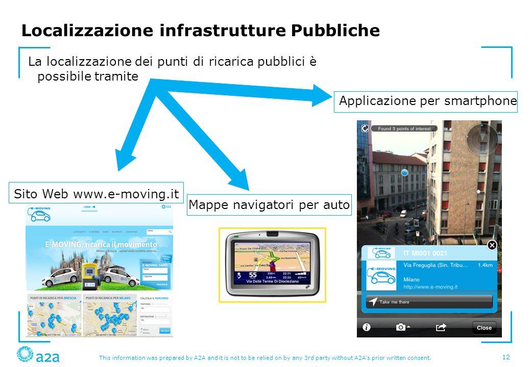 Localizzazione infrastrutture Pubbliche