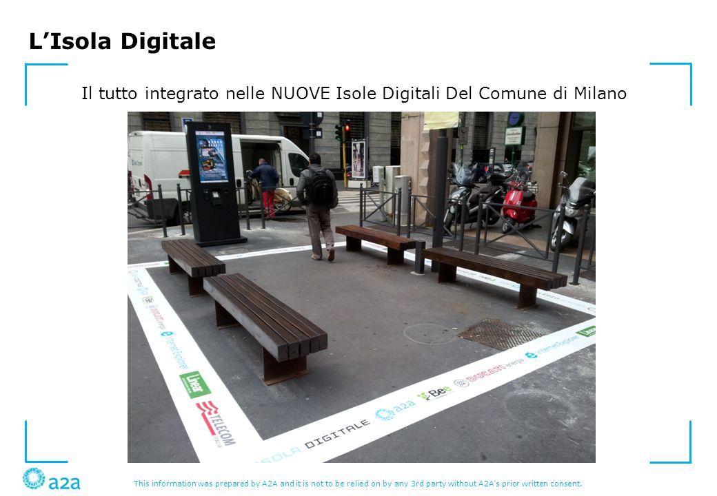 Il tutto integrato nelle NUOVE Isole Digitali Del Comune di Milano