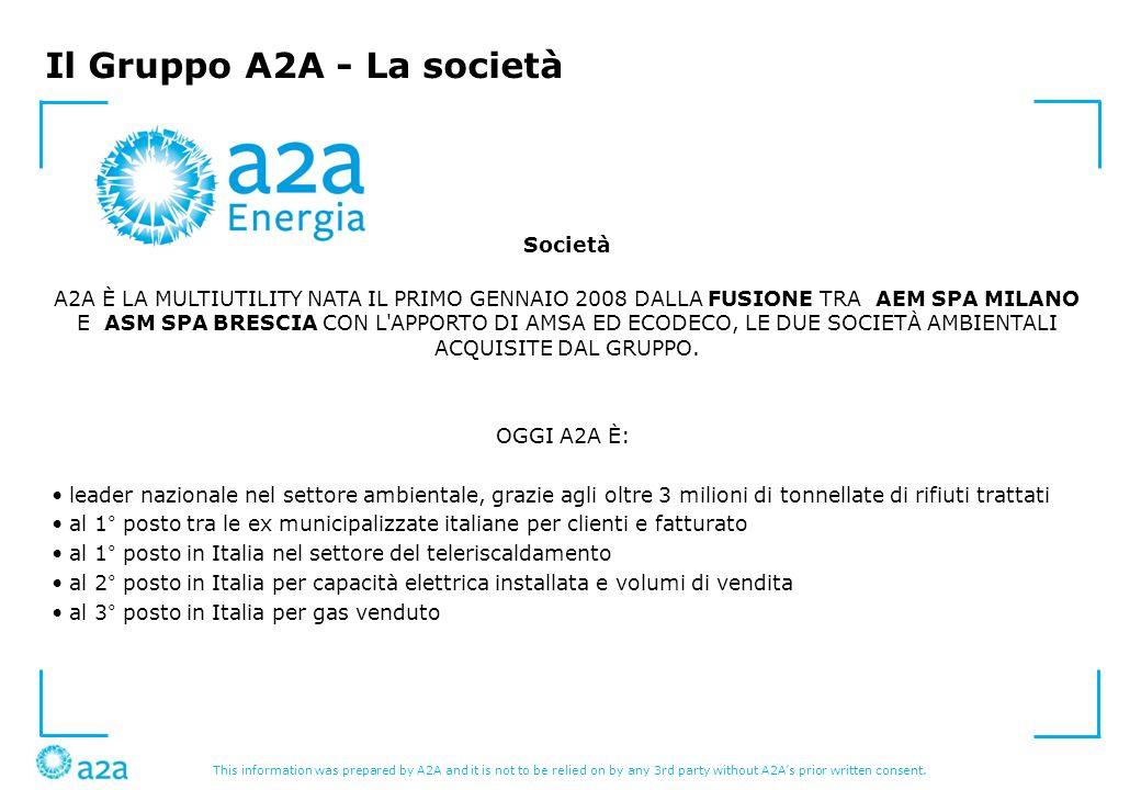 Il Gruppo A2A - La società