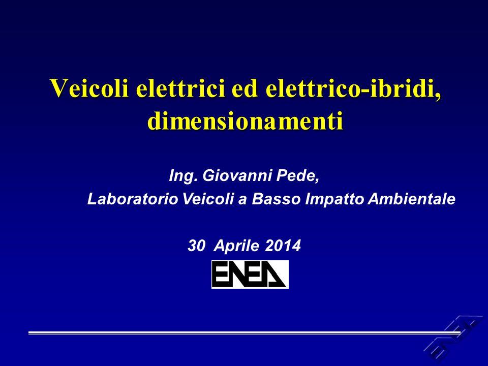 Veicoli elettrici ed elettrico-ibridi, dimensionamenti