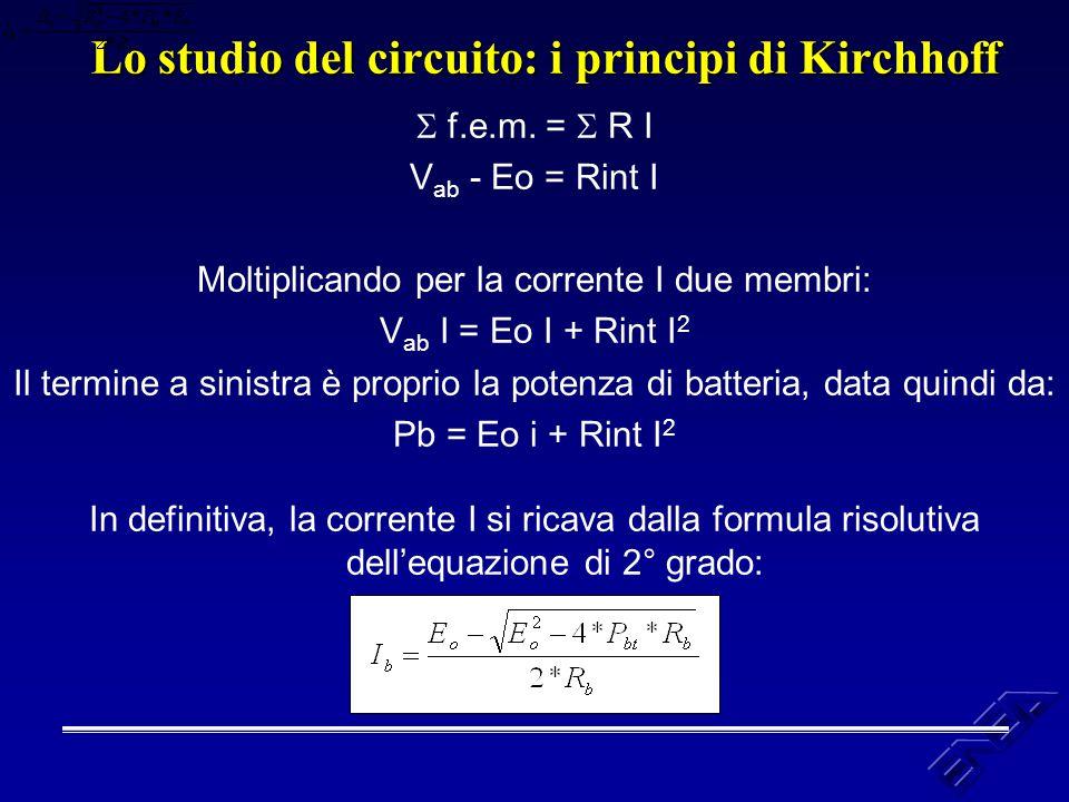 Lo studio del circuito: i principi di Kirchhoff