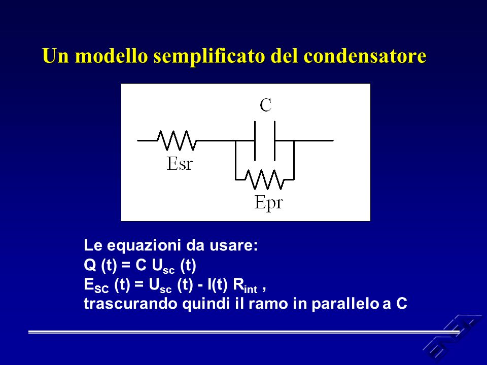 Un modello semplificato del condensatore