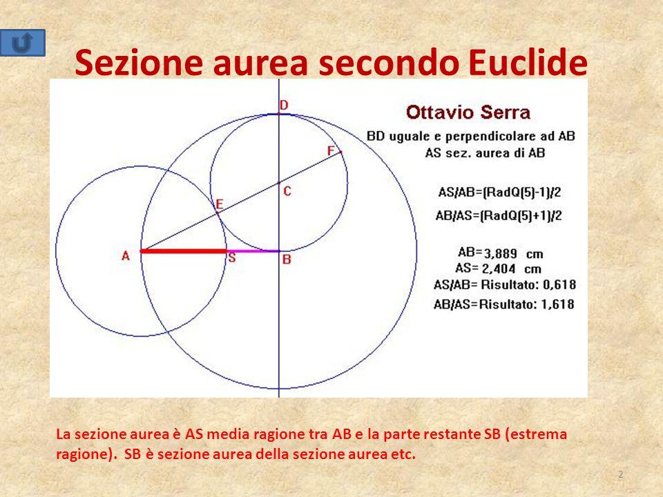 Sezione aurea secondo Euclide