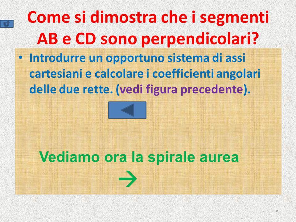 Come si dimostra che i segmenti AB e CD sono perpendicolari