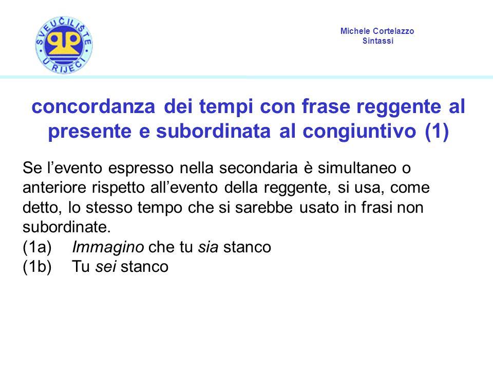 concordanza dei tempi con frase reggente al presente e subordinata al congiuntivo (1)