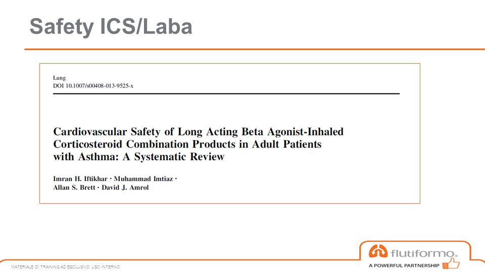 Safety ICS/Laba MATERIALE DI TRAINING AD ESCLUSIVO USO INTERNO