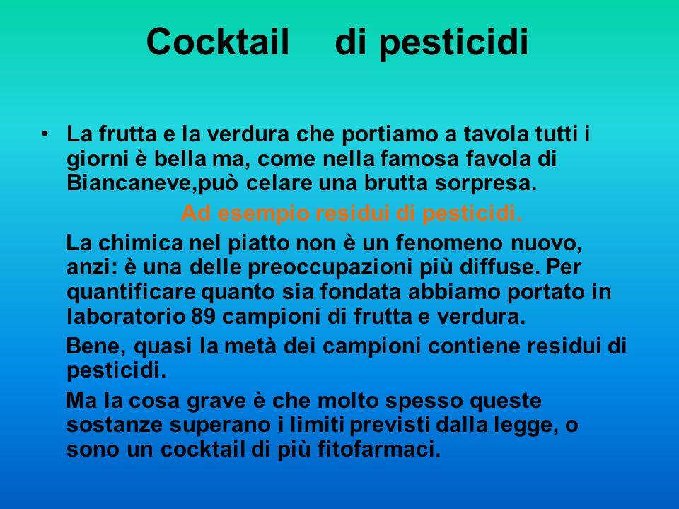 Ad esempio residui di pesticidi.