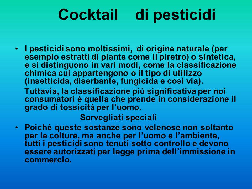 Cocktail di pesticidi