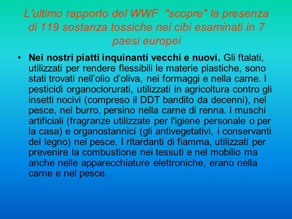 L'ultimo rapporto del WWF scopre la presenza di 119 sostanza tossiche nei cibi esaminati in 7 paesi europei