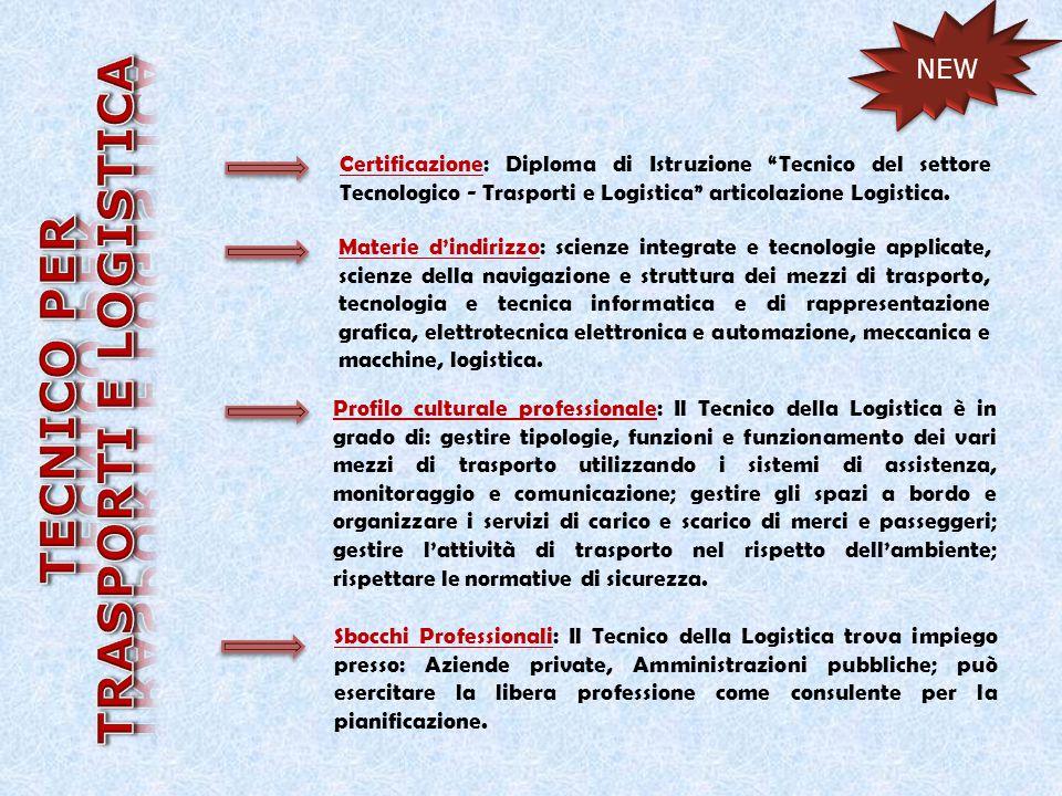 TRASPORTI E LOGISTICA TECNICO PER