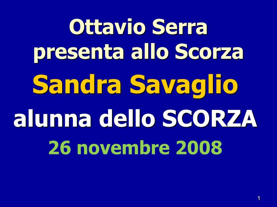Ottavio Serra presenta allo Scorza