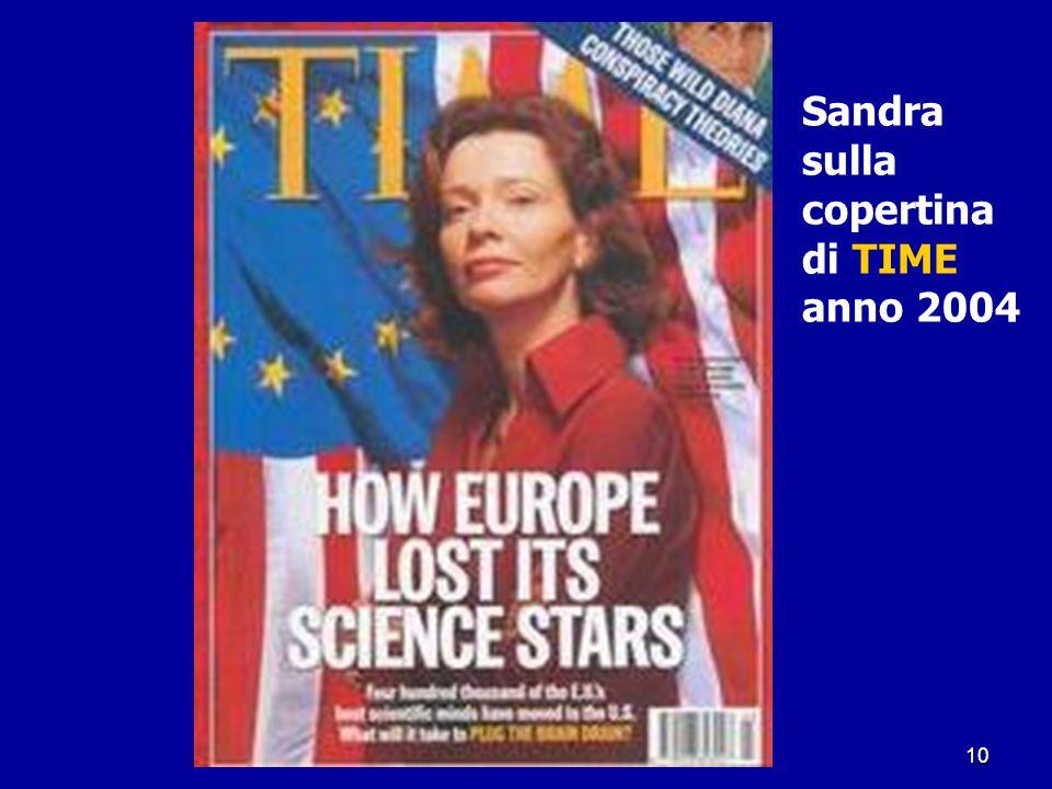 Sandra sulla copertina di TIME anno 2004