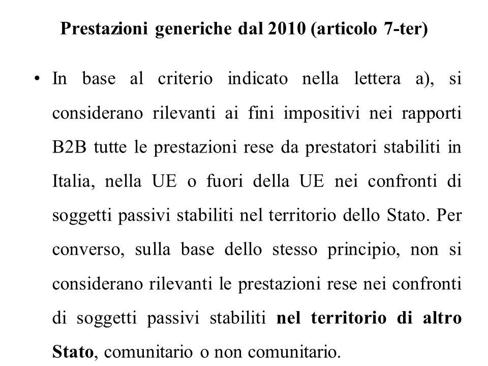 Prestazioni generiche dal 2010 (articolo 7-ter)