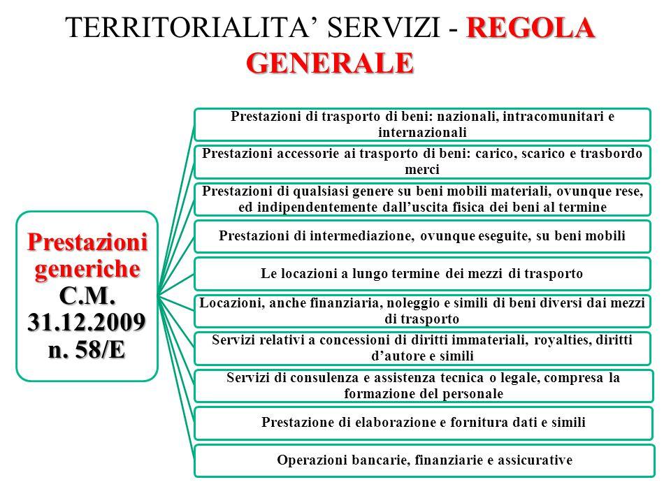 TERRITORIALITA' SERVIZI - REGOLA GENERALE