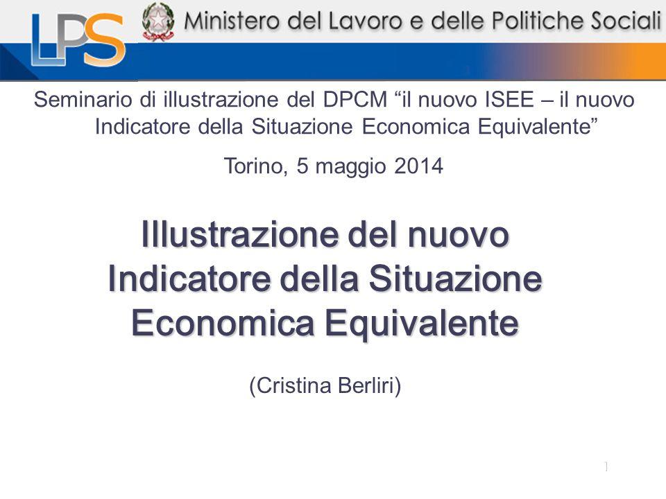 Seminario di illustrazione del DPCM il nuovo ISEE – il nuovo Indicatore della Situazione Economica Equivalente