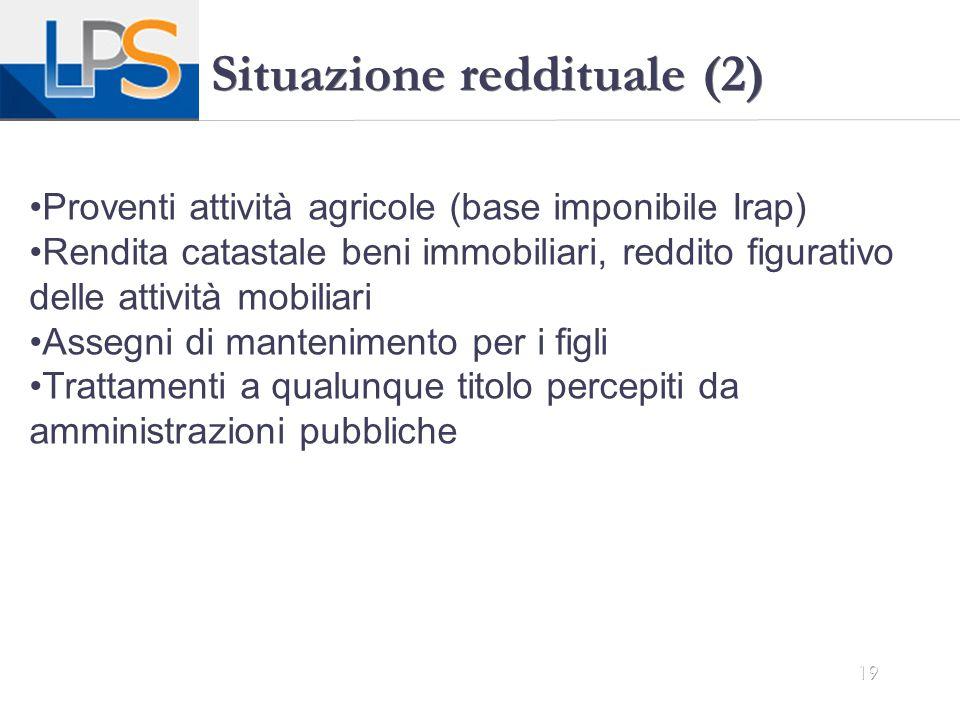 Situazione reddituale (2)