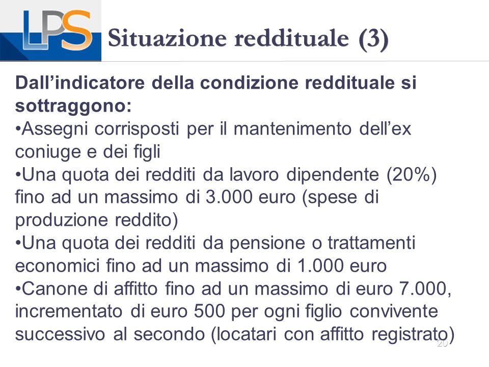 Situazione reddituale (3)