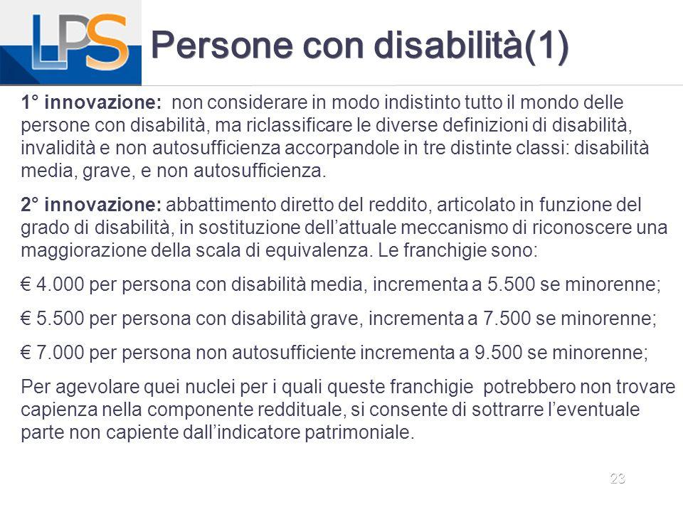 Persone con disabilità(1)