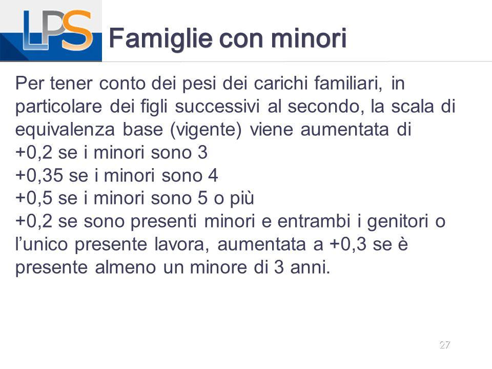 Famiglie con minori