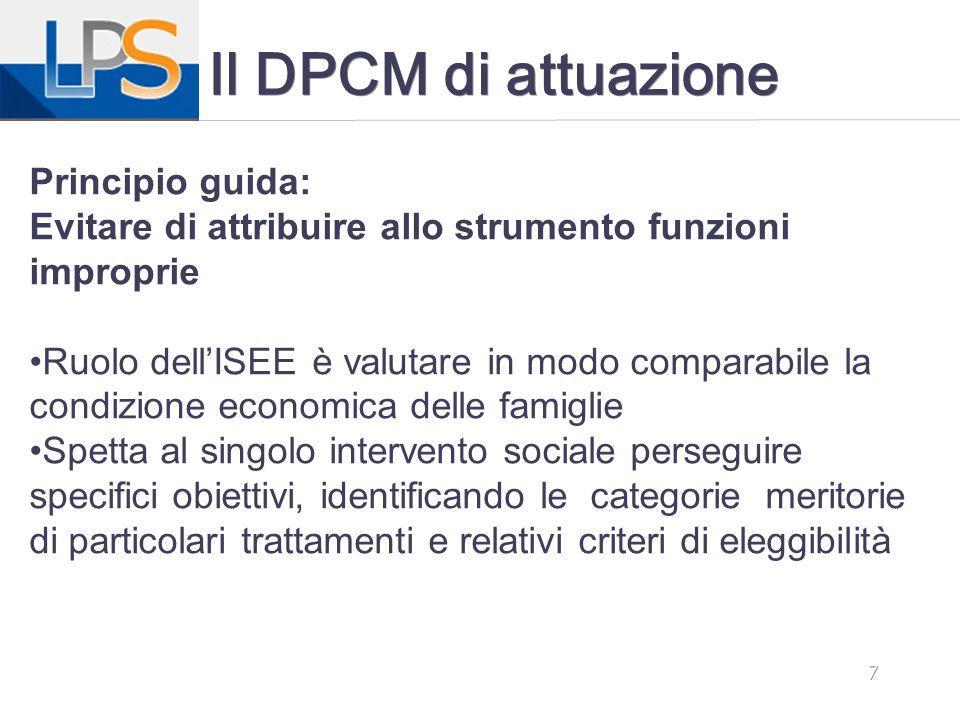 Il DPCM di attuazione Principio guida: