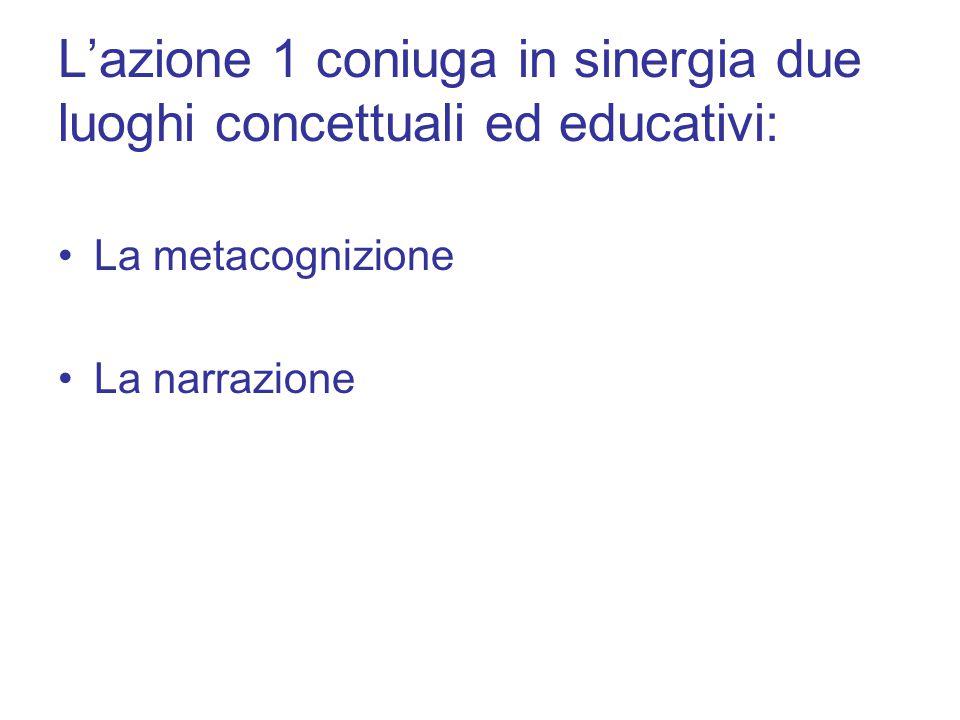 L'azione 1 coniuga in sinergia due luoghi concettuali ed educativi: