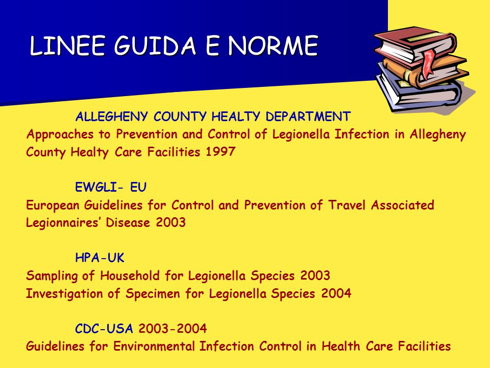 LINEE GUIDA E NORME ALLEGHENY COUNTY HEALTY DEPARTMENT