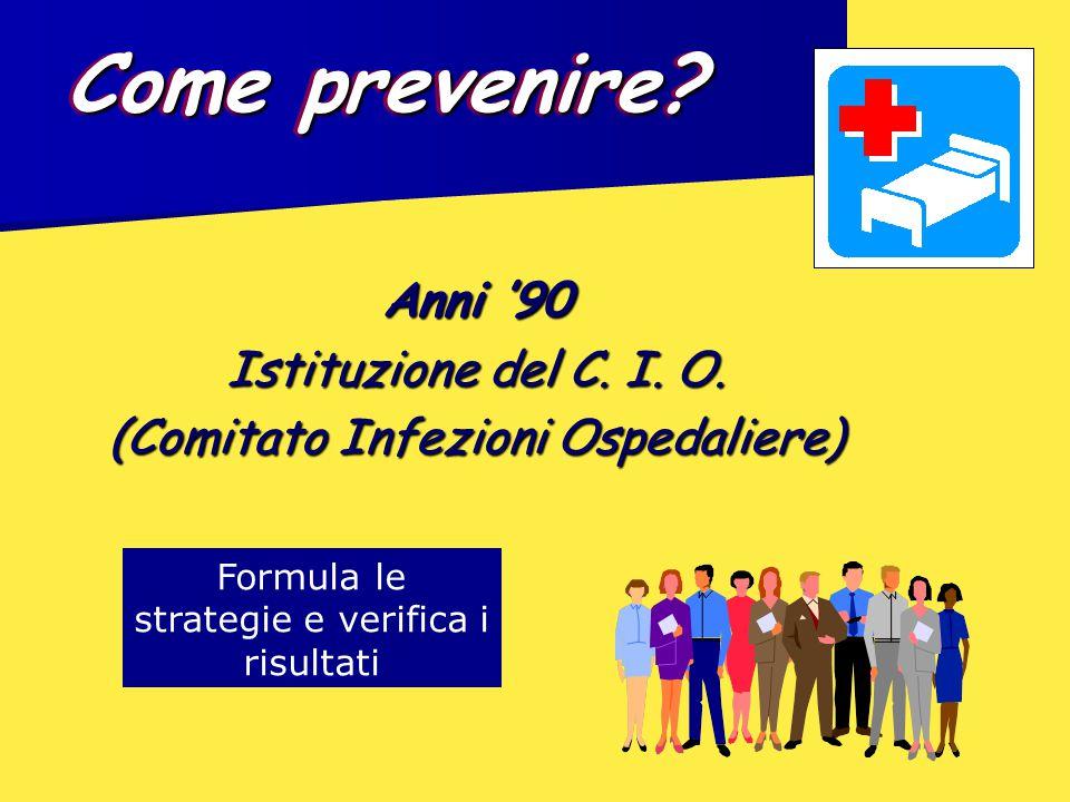Come prevenire Anni '90 Istituzione del C. I. O.