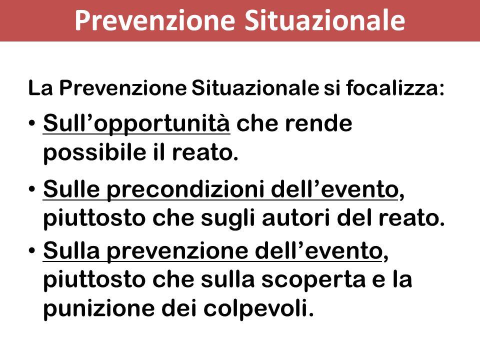 Prevenzione Situazionale