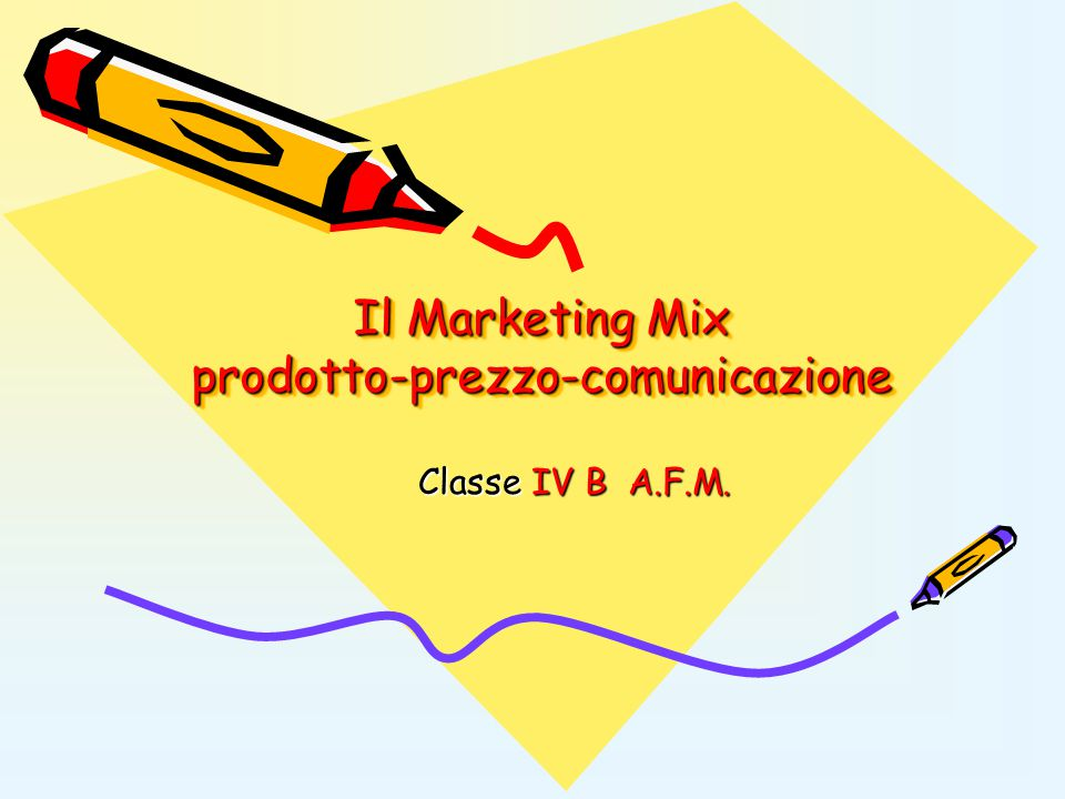 Il Marketing Mix prodotto-prezzo-comunicazione