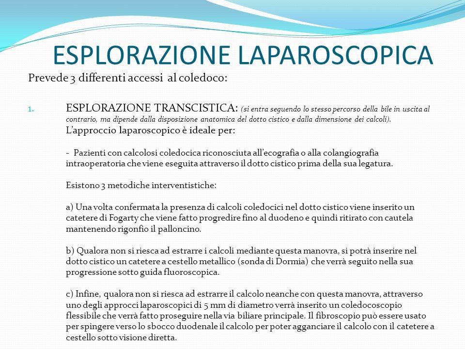 ESPLORAZIONE LAPAROSCOPICA