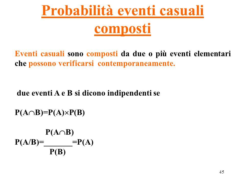 Probabilità eventi casuali composti