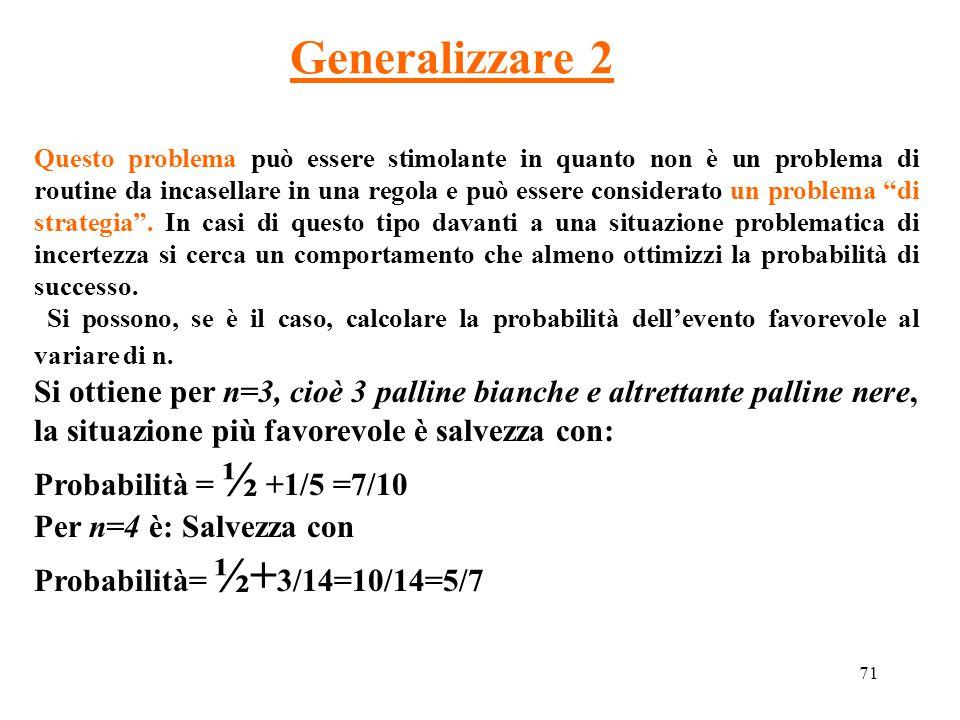 Generalizzare 2