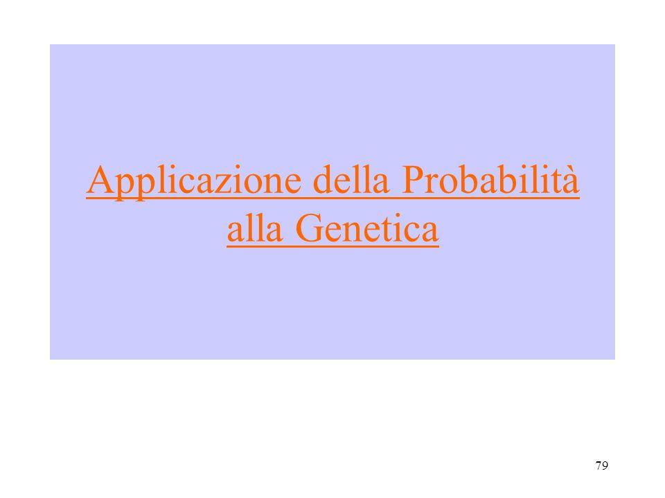 Applicazione della Probabilità alla Genetica