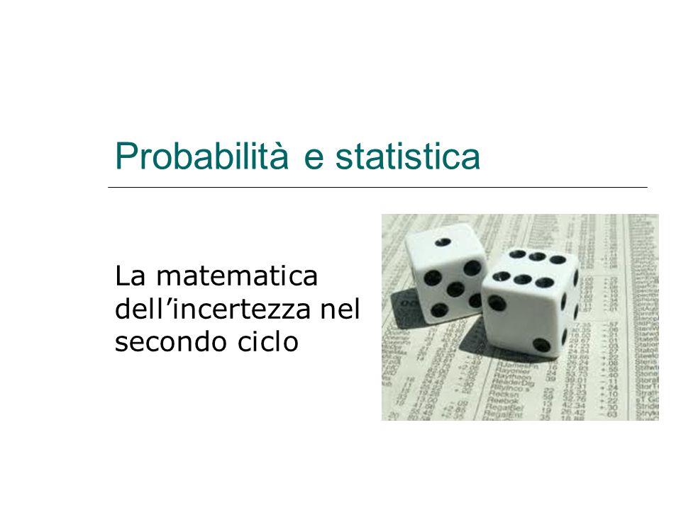 Probabilità e statistica