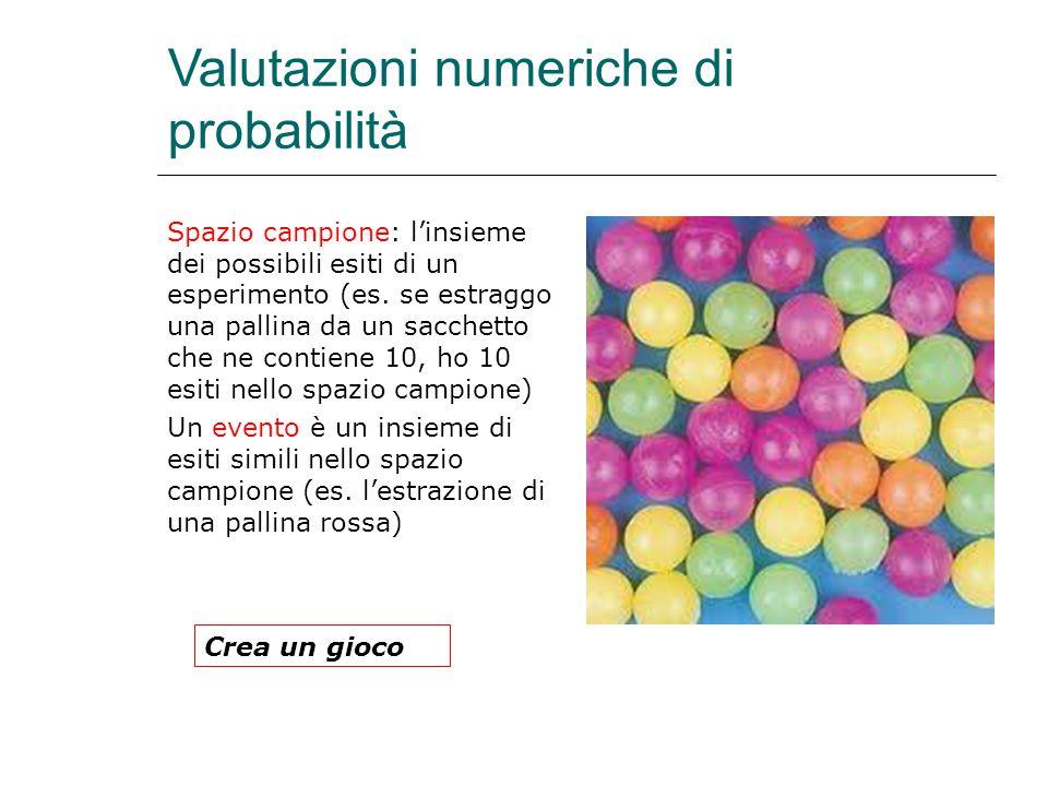 Valutazioni numeriche di probabilità