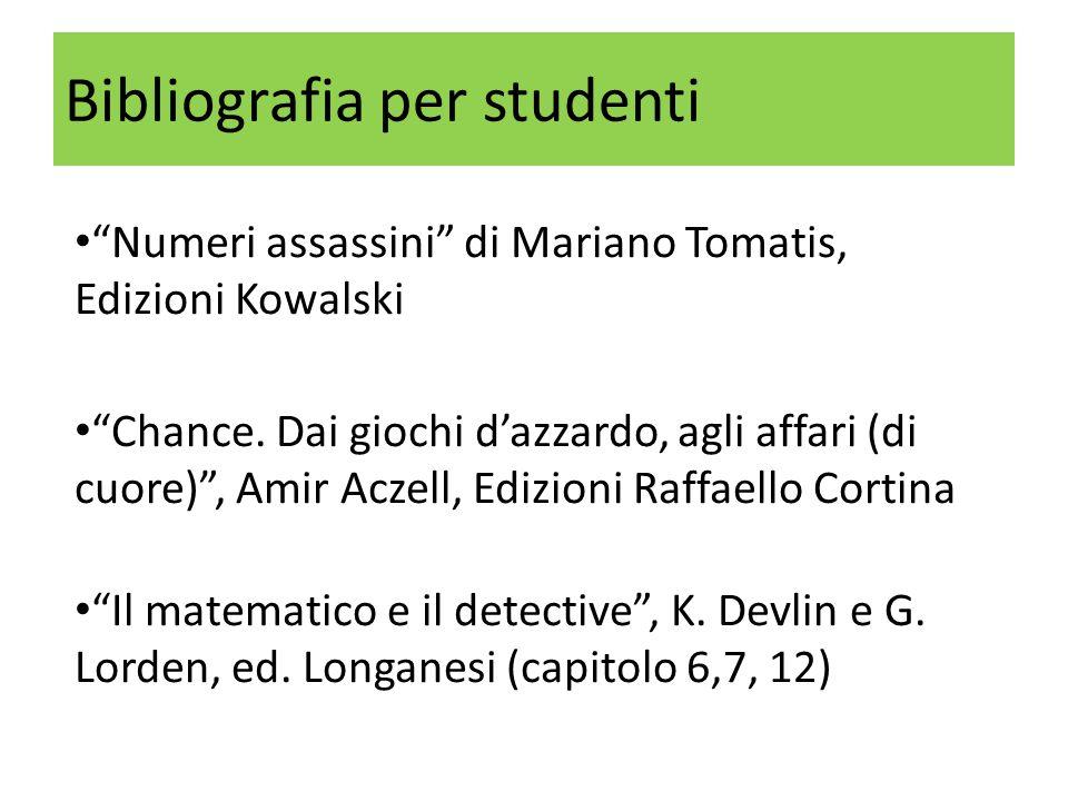 Bibliografia per studenti