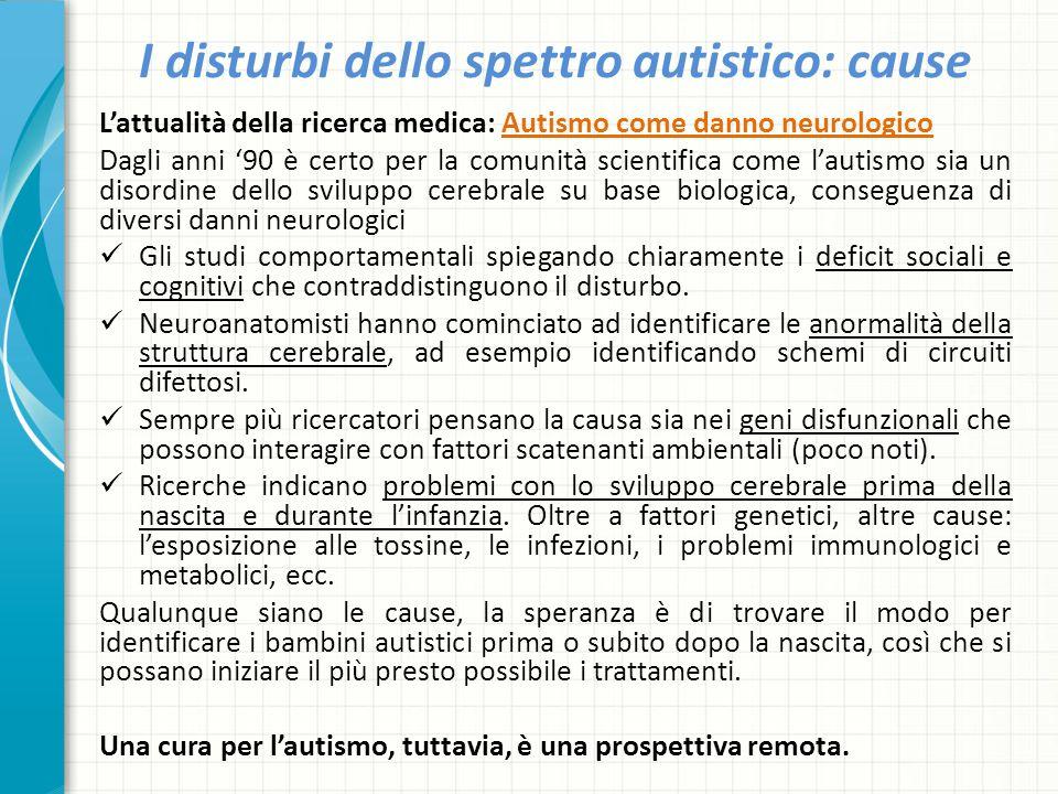 I disturbi dello spettro autistico: cause