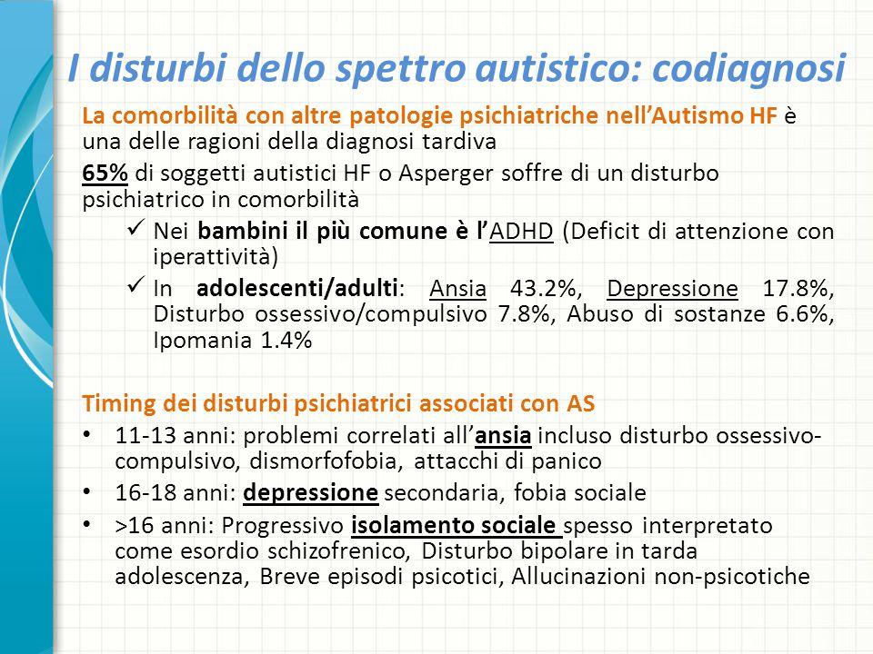 I disturbi dello spettro autistico: codiagnosi