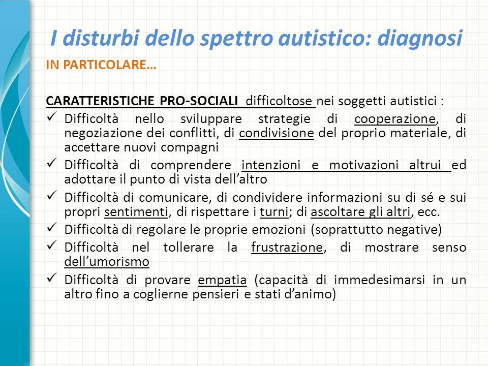 I disturbi dello spettro autistico: diagnosi