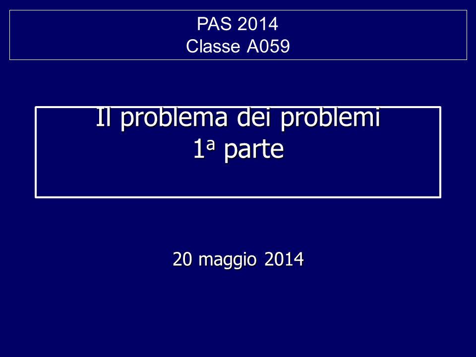 Il problema dei problemi 1a parte