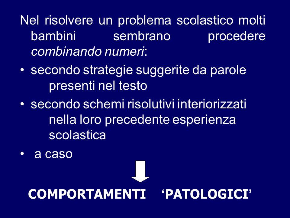 COMPORTAMENTI 'PATOLOGICI'