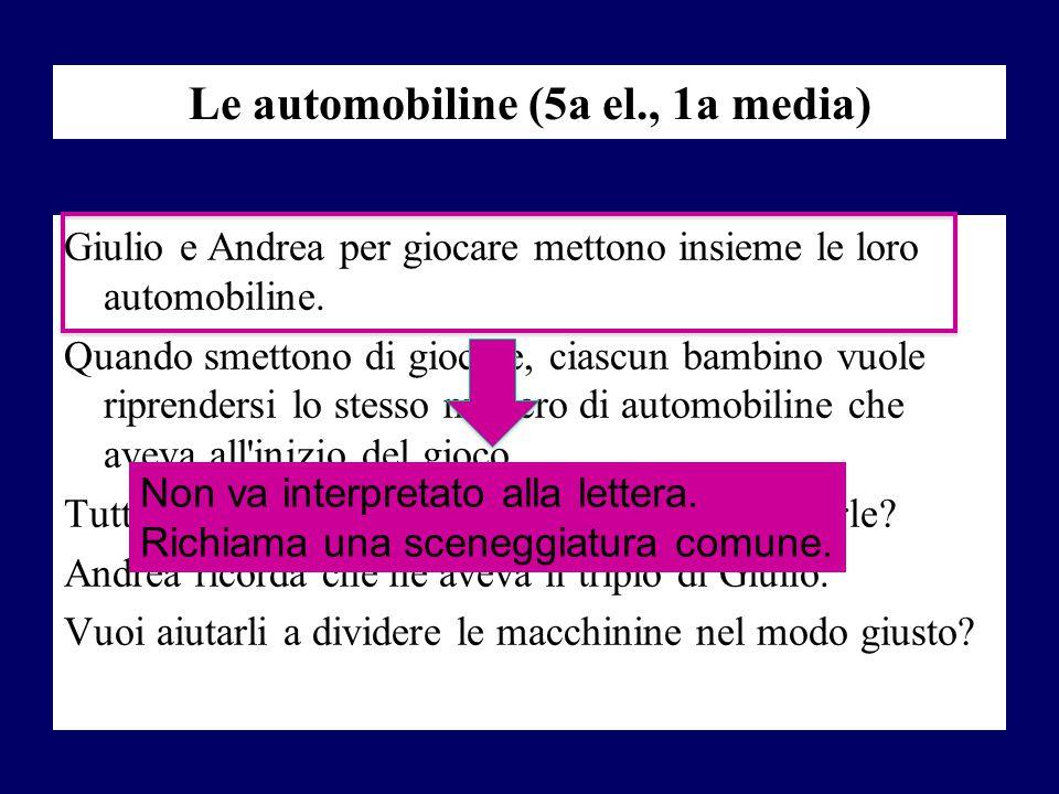 Le automobiline (5a el., 1a media)