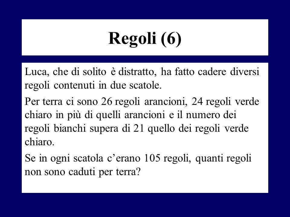 Regoli (6) Luca, che di solito è distratto, ha fatto cadere diversi regoli contenuti in due scatole.