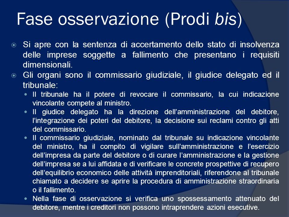 Fase osservazione (Prodi bis)