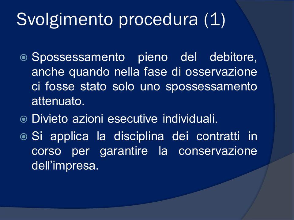 Svolgimento procedura (1)
